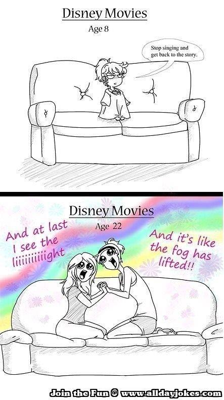 Disney Movies as Adults