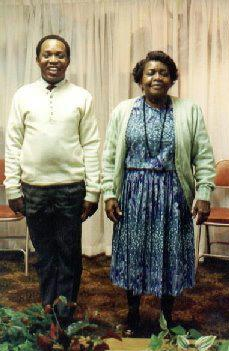 Keith L. Brown and mother