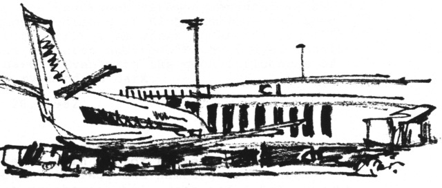 Airport sketch done by President Henry B. Eyring. Image via LDS Living.