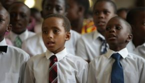 LDS children singing in Africa