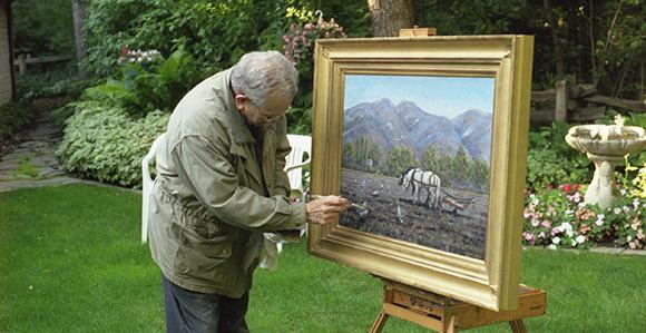 President Boyd K. Packer, artwork. Tuesday, April 17, 2012