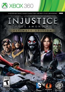 Injustice: God's Among Us Xbox 360 Game Case