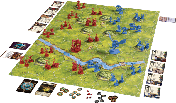 Battlelore Second Edition game board and set