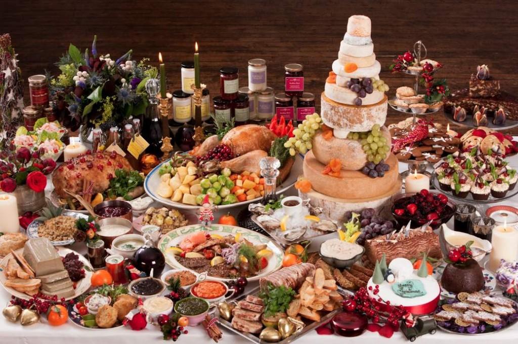 christmas feast table - photo #14