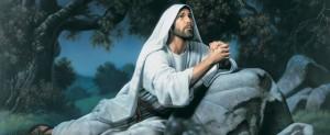 Jesus Christ praying in the Garden of Gethsemane
