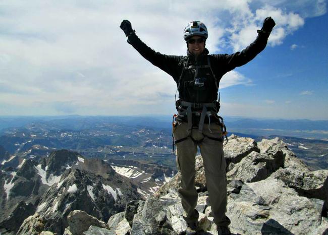 A mountaineer's successful summit of Grand Teton