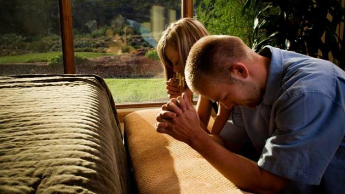 Mormon Couple Praying