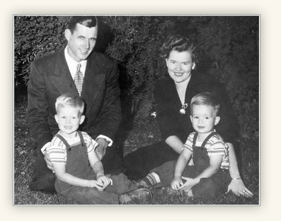 D. Todd Christofferson with parents and a brother