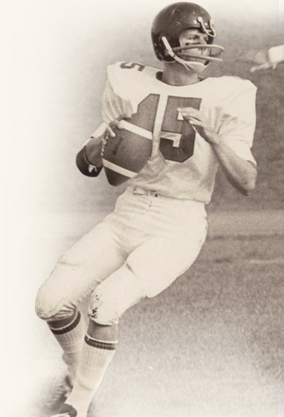David A. Bednar as high school football quarterback