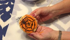 Finished Halloween Spider Cookie
