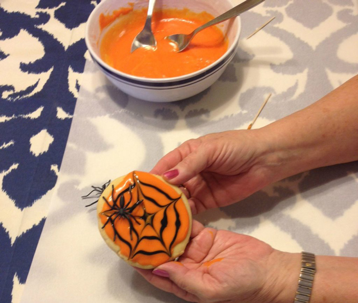 Decorated Halloween sugar cookie
