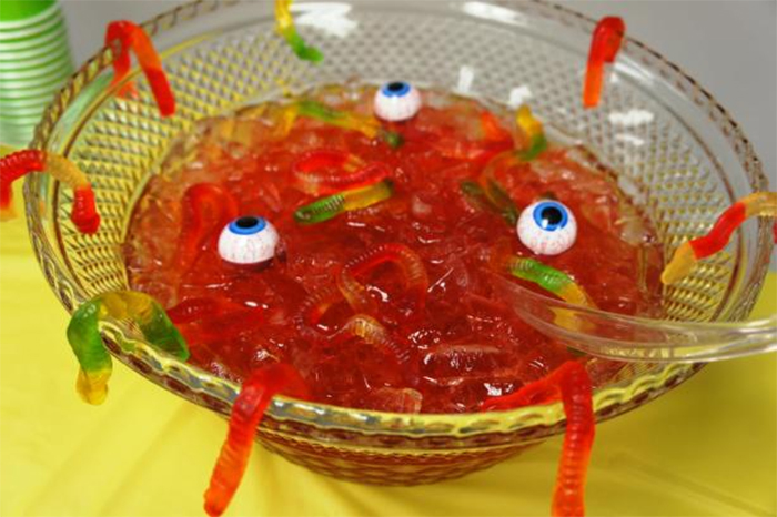 crazy for Halloween with gummy worm stew