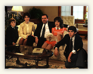 Jeffrey R. Holland with his wife and children, courtesy of LDS.org