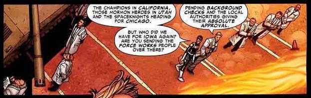 Maria Hill confirms the existence of Mormon superheroes.