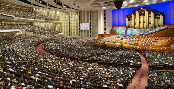 Communal Prayer at the LDS General Conference