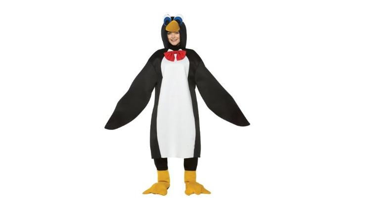 Mormon crazy for halloween in her Penguin Costume