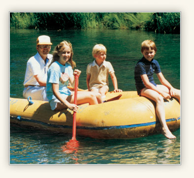 Quentin L. Cook rafting with his children