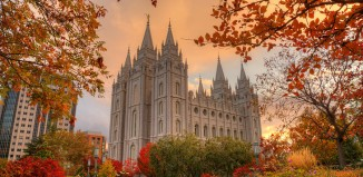 Salt Lake Temple LDS Autumn