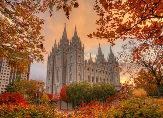 Salt Lake Temple LDS Autumn