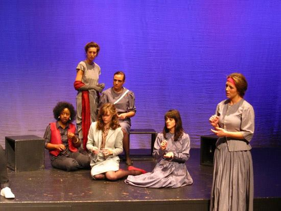 Actors perform Women of Faith Stage Play