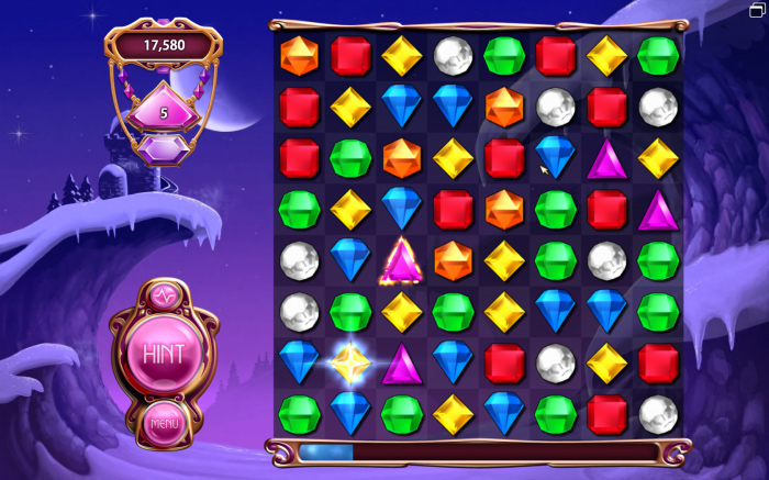 Bejeweled 3 Screen Shot Snow Level