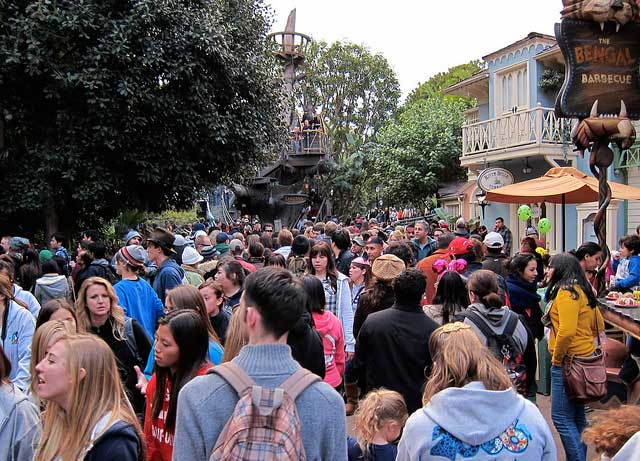 crowds at disneyland