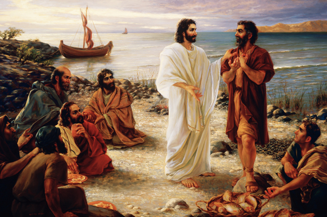 Christ asking the fishermen of Galilee to leave their trade and follow Him