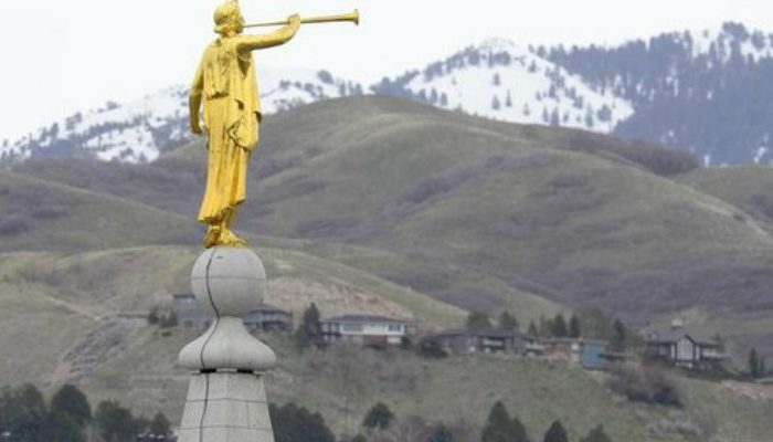Angel Moroni Atop SLC Temple