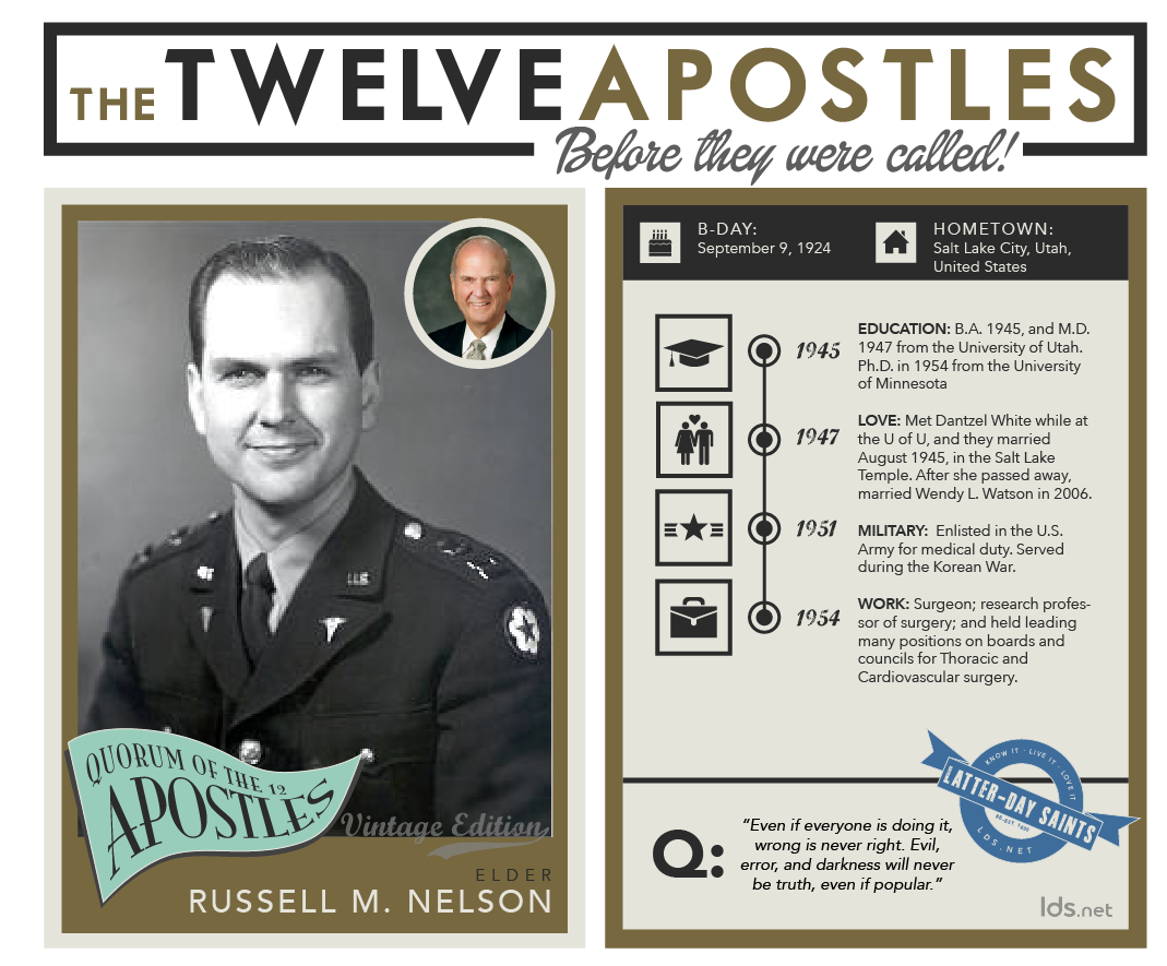 infographic of Russel M. Nelson's life