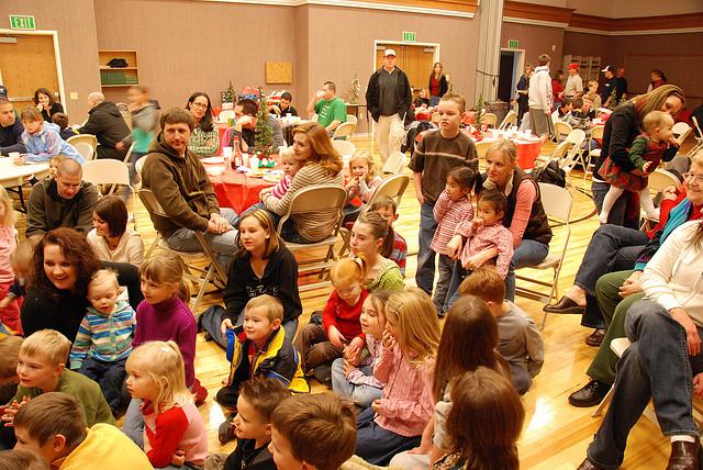 Local LDS neighborhood Christmas activity