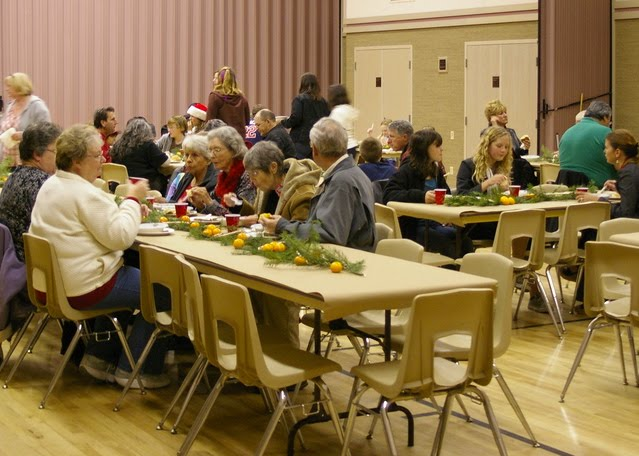 Local LDS Ward gathered together for a Christmas activity.