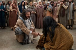 Christ forgives the woman taken in adultrey