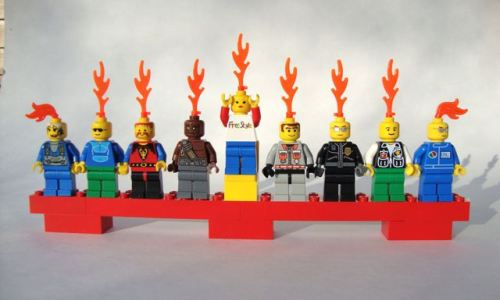 Lego Hanukkah Menorah