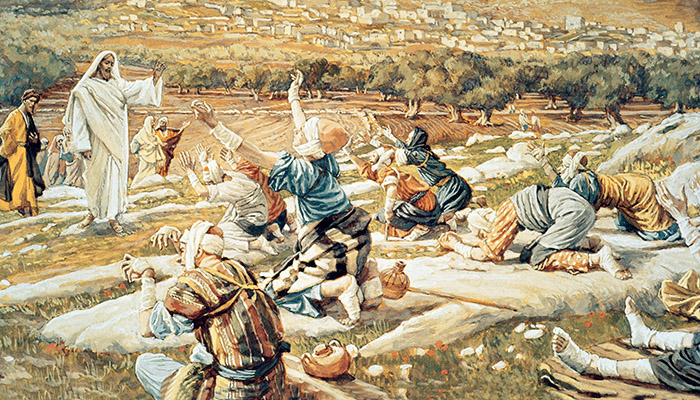 Artistic depiction of Christ Healing the 10 Lepers