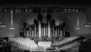 First TV Broadcast featuring the Mormon Tabernacle Choir, 1958