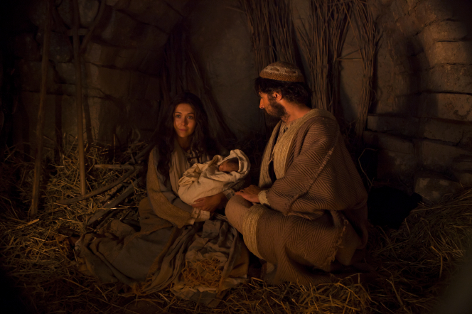 Mary, Joseph and Baby Jesus.
