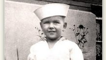 Young Russel M Nelson in a sailor suit