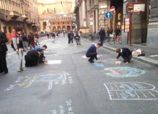 Missionaries Sidewalk chalk, Italy