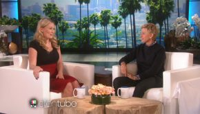 T.V. host Ellen with guest from Utah