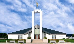 Front View of the Freiberg Germany LDS Temple