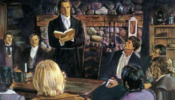 Joseph Smith organizes church