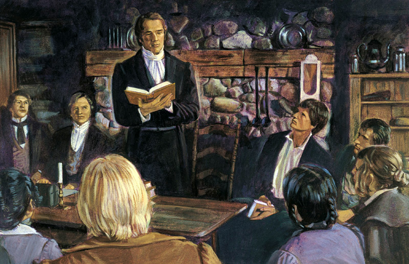 Joseph Smith organizes church