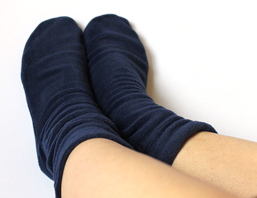 Warm fleece socks