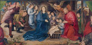 Shepherds worship the Christchild