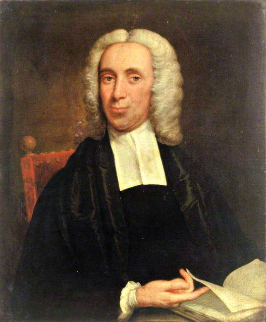 Painting of Isaac Watts author of Joy To the World