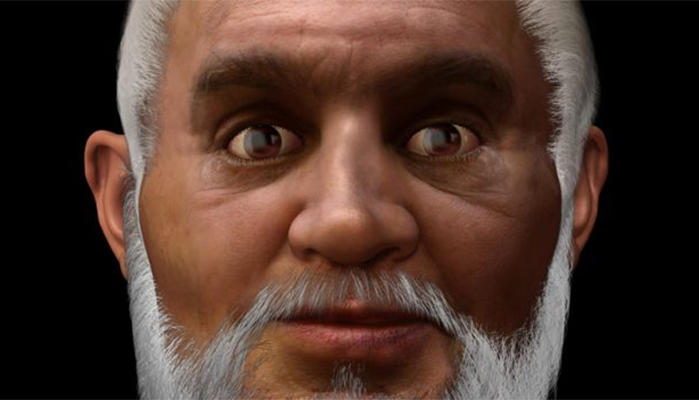 Reconstruction of St Nicholas' Face