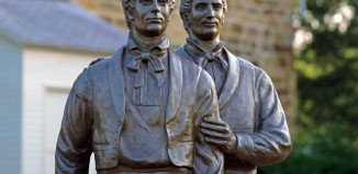 Joseph Smith Carthage Jail statue