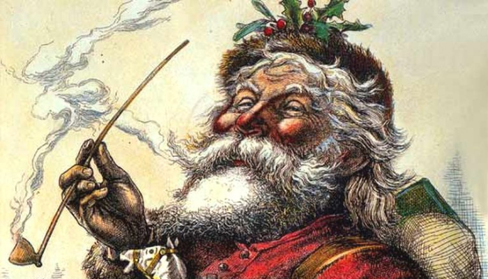 Harper's weekly cartoon of santa claus