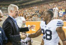 BYU President Worthen at Game