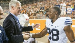 BYU President Worthen at Game